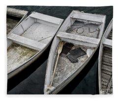 White Boats Fleece Blanket
