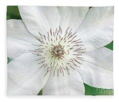 White Clematis Flower Garden 50121 Fleece Blanket