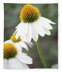 White Coneflower Fleece Blanket