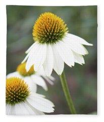 White Coneflower Fleece Blanket