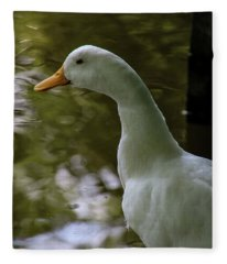 White Duck Fleece Blanket