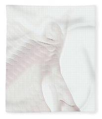 White Ghost In Motion Fleece Blanket