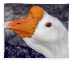 White Goose Portrait Fleece Blanket