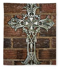 White Iron Cross 1 Fleece Blanket