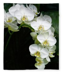 White Moth Orchid Array Fleece Blanket
