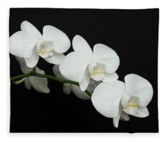 White On Black Fleece Blanket