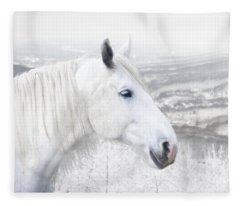 White On White Fleece Blanket