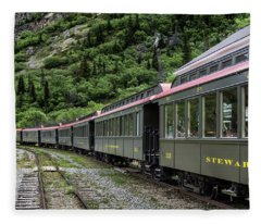 White Pass And Yukon Railway Fleece Blanket