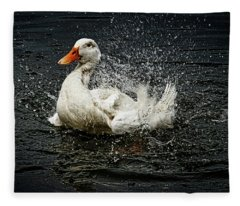 White Pekin Duck Fleece Blanket