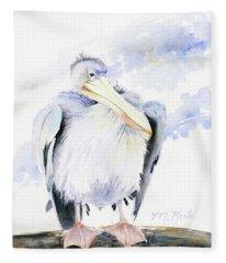 White Pelican Fleece Blanket