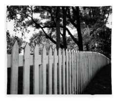 White Picket Fence- By Linda Woods Fleece Blanket