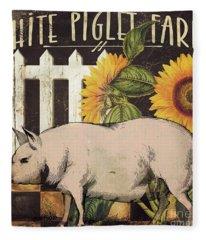 White Piglet Farms Fleece Blanket
