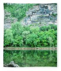White River, Arkansas 4 Fleece Blanket