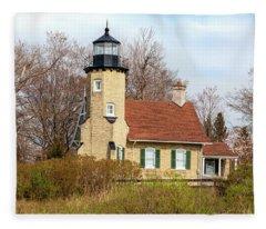 White River Lighthouse Fleece Blanket