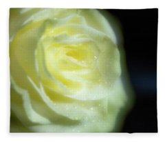 White Rose 4 Soft Fleece Blanket