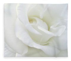 White Rose Angel Wings Fleece Blanket