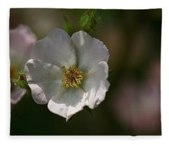 White Rose In Shadow Fleece Blanket