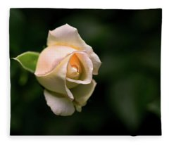 White Rosebud Fleece Blanket