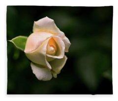 White Rosebud Fleece Blanket