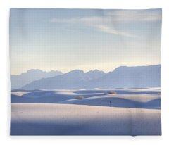 White Sands Blue Sky Fleece Blanket