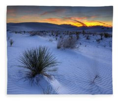 White Sands Sunset Fleece Blanket