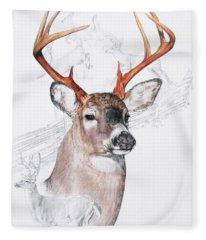 White-tailed Deer Fleece Blanket