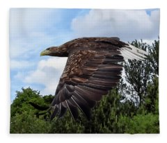 White Tailed Eagle Fleece Blanket