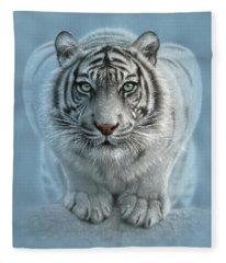 White Tiger - Wild Intentions Fleece Blanket