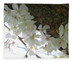 Dogwood Branch Fleece Blanket