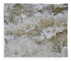 White Water Abstract Fleece Blanket