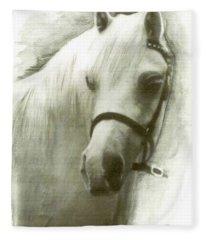 White Welsh Pony Fleece Blanket