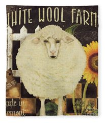 White Wool Farms Fleece Blanket