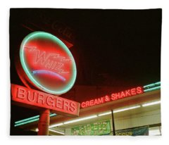 Whiz Burgers Neon, San Francisco Fleece Blanket