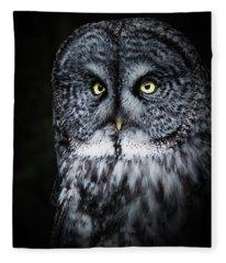 Whooo Are You Looking At? Fleece Blanket