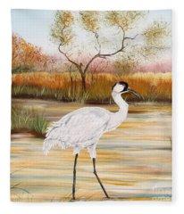 Whooping Cranes-jp3156 Fleece Blanket