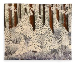 Whose Woods These Are I Think I Know Fleece Blanket