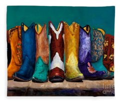 Why Real Men Want To Be Cowboys 2 Fleece Blanket