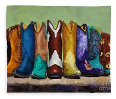 Why Real Men Want To Be Cowboys Fleece Blanket