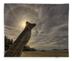 Wickaninnish Beach Sun Halo Fleece Blanket