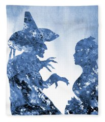Wicked Witch And Dorothy-blue Fleece Blanket