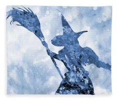 Wicked Witch-blue Fleece Blanket