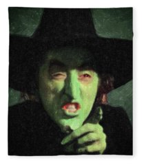 Wicked Witch Of The East Fleece Blanket