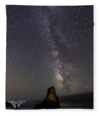 Fleece Blanket featuring the photograph Wide Open by Alex Lapidus