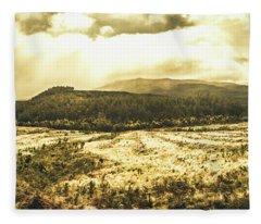 Wide Open Tasmania Countryside Fleece Blanket