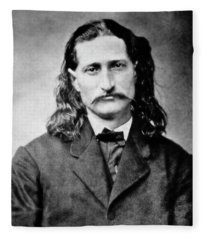 Wild Bill Hickok - American Gunfighter Legend Fleece Blanket