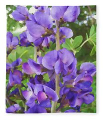 Wild Blue False Indigo Fleece Blanket
