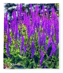 Wild Blue Lupine Fleece Blanket
