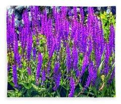 Wild Blue Lupine Fleece Blanket