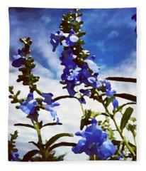 Wild Blue Sage  Fleece Blanket