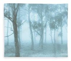 Wild Blue Woodland Fleece Blanket
